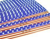 The American Flag (Horizontal) - Flag of the United States -  Origami Lucky Star Folding Paper - pack of 40 strips