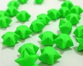70 Bright Lime Green Flourescent Origami Lucky Stars - custom order available
