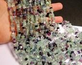 Fluorite Gemstone  - pebble - nugget - bead - 36 inch -full strand - chip stone - AA quality - PSC52