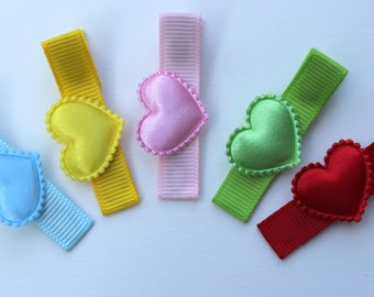 Heart Hair Clips Gift Set - Valentines Day No Slip Hair Clips