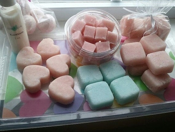 Ultra-Rich SUGAR Scrub Cubes, exfoliate, (8 oz) approximately 8 cubes - select fragrance from drop down menu