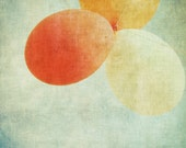 Babys Room Wall Art - Birthday -  Fine Art Photography Print- peach cream salmon pink aqua green