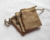 "150 Burlap drawstring bags 4"" X 6"" for candles handmade soap wedding"