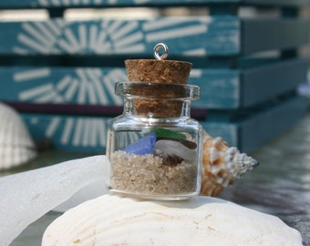 Sea Glass and Sand in a Bottle from the Jersey Shore