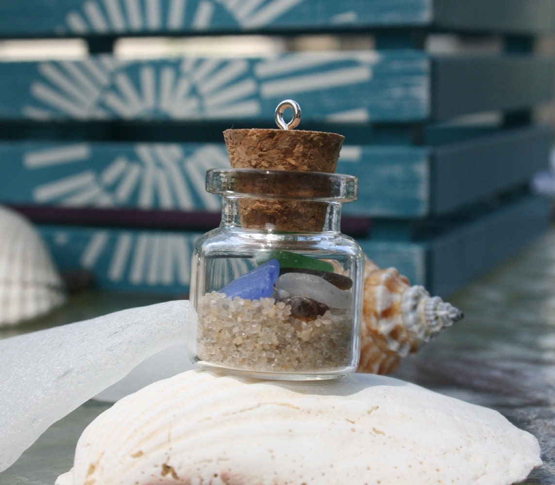 Island Beach State Park Nj: Sea Glass And Sand In A Bottle From The Jersey Shore