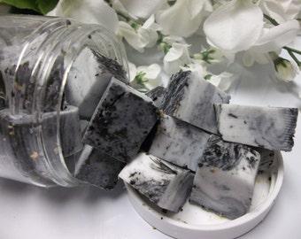 Activated Charcoal Scrub, Aromatherapy Essential Oil Scrub, Exfoliating Body Scrub, Shower Soap Scrub , Acne Relieving Soap Scrub