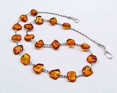 Baltic Amber & Sterling Silver Necklace - N694
