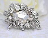 Rhinestone Brooch Embellishment - Flatback - Embellishment Buttons - Brooch Bouquets - Broach Bouquet Supplies - DIY Wedding - Jewelry RD281