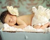 Baby Headband, Magnolia Flower Headband, Brown Headband, Flower Girl Headband, Infant Head Band, Toddler Headband, Newborn Headband