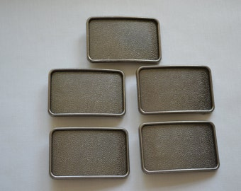 5 Belt Buckle Blanks Wholesale - Antique Nickel
