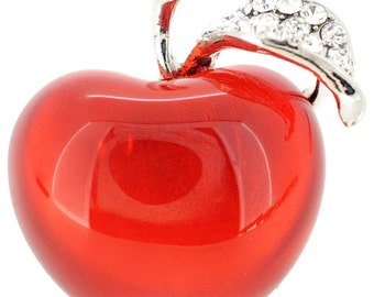 Red Teacher's Apple Pin 1001131