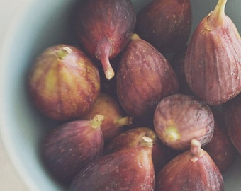 fig print, photo of figs, kitchen print, purple, dining room decor, cafe print, bakers, chefs, restaurant art, food photography, rustic art
