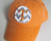T Monogrammed Baseball Cap Personalized Hat Bridesmaid Birthday Gift