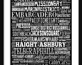 ... Francisco Bus Roll - Subway Scr oll Poster Print Typography Text