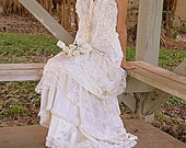 Custom Listing for Lisa-Balance-Romantic Bohemian Lace Ruffled Dress