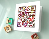 Funny sexy Valentined Day card - If love is blind, why is lingerie so popular or your secret personalized message - QR code