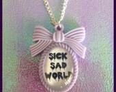 Daria Inspired Sick Sad World Cameo Necklace