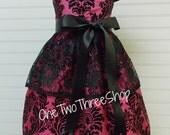 Custom Boutique Clothing  Damask   Sassy Girl Dress