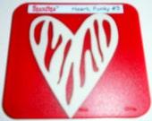 Sizzix Sizzlits Heart, Funky #3