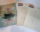 SS America Menus - Set of 3 - 1952 Cruise Paper Ephemera United States Line Cruiseline Memorabilia