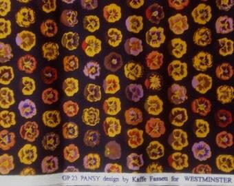 SALE : Kaffe Fassett Pansy brown GP 23 Rowan Fabrics FQ or more