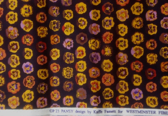 SALE : Kaffe Fassett Pansy brown GP 23 Rowan Fabrics FQ or more
