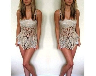 Lace Tank Top / Cover up Made to Order in any size and color