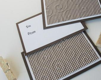 Christmas Clothespin Gift Tags: Handmade 3 Pack Mini Set - Christmas Cottage