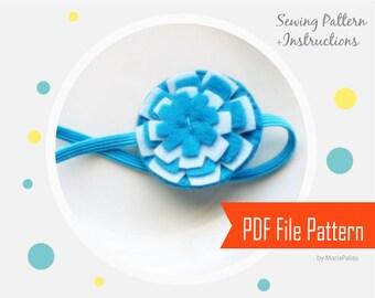 Felt Headband Pattern, Tutorial , PDF Pattern and Instructions   A806