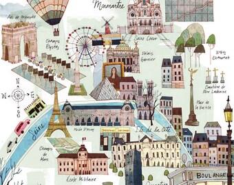 11 x 14 Paris Map