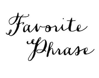 Custom Quote Calligraphy Art Print, Typography, Foreign Language Phrase