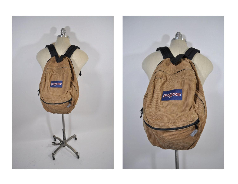 vintage backpack corduroy JANSPORT carry on daypack day pack