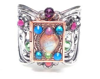 PS, SALE, Labradorite Heart Locket Ring