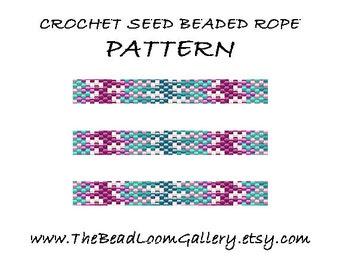 Beaded Rope Pattern - PDF File - Crochet Seed Beaded Rope - Vol.31 - Sea Fantasy