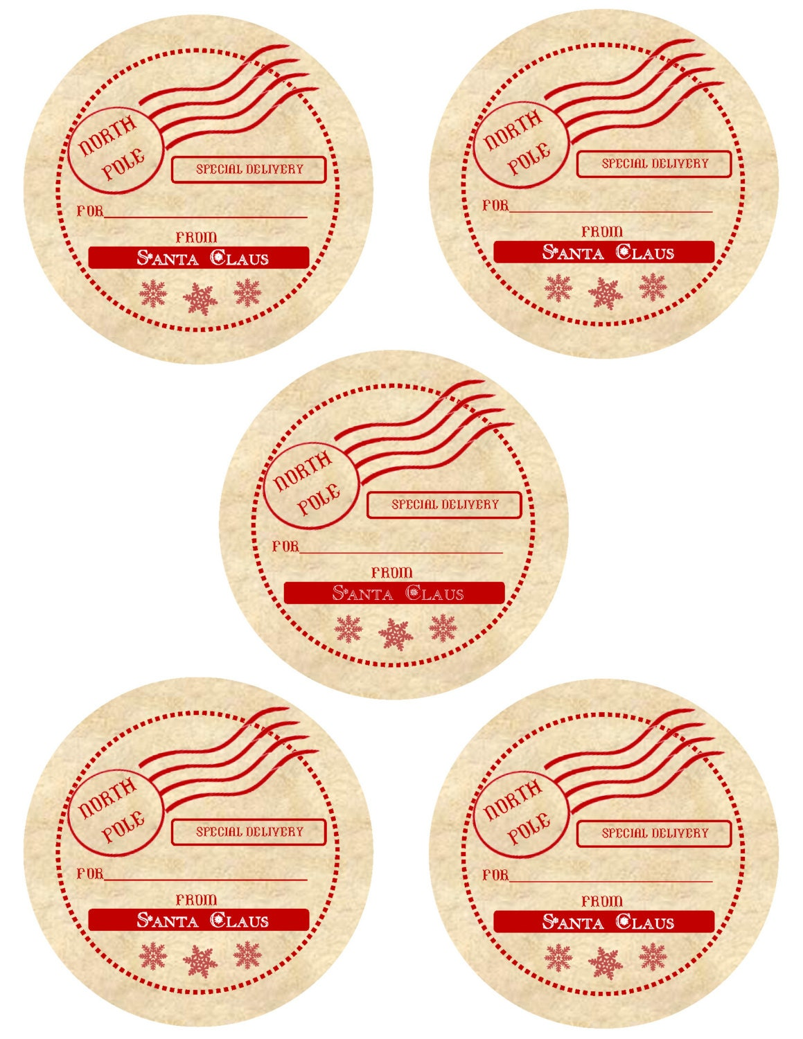 This is a photo of Adaptable Vintage Christmas Gift Labels