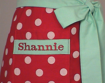 Personalize Your Apron Custom Name Embroidery on Pocket ( Embroidery Only)