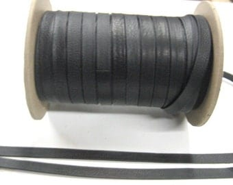 """3/8"""" Leather Double-folded in Black Climax (3 yds) 0375BD"""