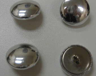 Covered Buttons Silver 36 line
