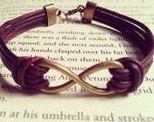 Men's Infinity Leather Bracelet