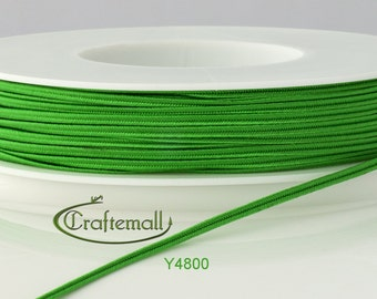 Soutache braid - Cellulose Acetate flat 3mm soutache cord - bright green (Y4800) - 5 meters