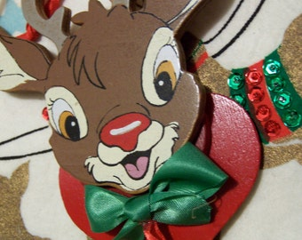1988 r. l. may rudolph wooden ornament