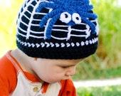 Along Came A Spider Beanie - Custom Crochet Halloween Hat