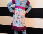 Custom Listing for hjenni01 Girls Christmas Winter Dress and Ruffle Legging Set