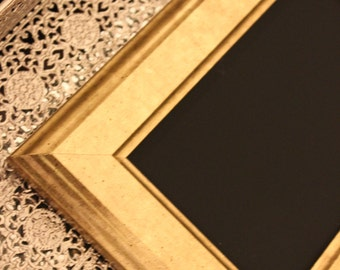 Vintage Style Simple Gold Frame Golden or Chalkboard Table Number Frames Picture Photo Rustic Antique Wedding Shabby Chic Glam Gatsby 4x6