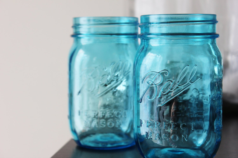 1 aqua blue mason jars jar canning jars rustic vintage wedding. Black Bedroom Furniture Sets. Home Design Ideas