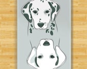 Clean Dirty Dishwasher Magnet with Dalmatians - Funny Dalmatian Dishwasher Magnet