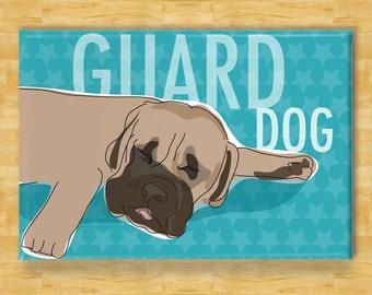 Mastiff Magnet - Sleeping Guard Dog - Mastiff Gifts Fridge Dog Refrigerator Magnets