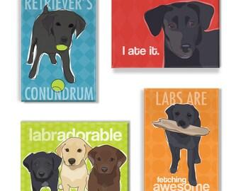 Labrador Retriever Gift Magnet Set - Black Lab Magnets