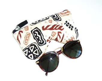 Eyeglass Case, Sun Glass Case, Eyeglass Holder, African Inspired Fabric