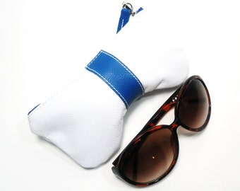Leather Curves Eyeglass Case, Sun Glass Case, Sunglasses Case, Zippered Eye Case , Eye Glass Pouch